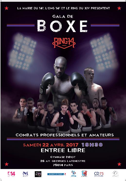 Affiche boxe